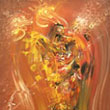 """Archangel with air spear"" - oil on canvas with ramin wooden frame  - 36 x 44 inches - PRIVATE COLLECTION USA"