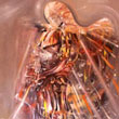 """Archangel with white sword"" - oil on canvas  rolled ! - 40 x 55  inches /  PRIVATE COLLECTION ROMANIA"