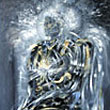"""Archangel freezing the time before a fight"" - framed oil painting on canvas - 32 x 50 inch - PRIVATE COLLECTION USA"