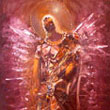 Retired rusty angel  -  oil on canvas 24 x 32 inches / 60 x 80 c m - private collection USA